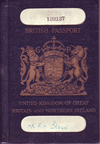 Passport for F.H.   Brown.