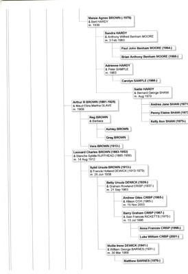 Brown Family Descendant Chart.