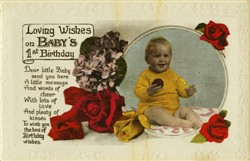 Loving wishes on baby's first birthday