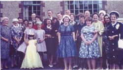 A wedding party at the Scout Hall.