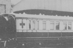 Exterior of ambulance train