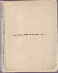 The National Roll of the Great War 1914-1918