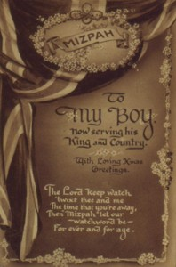 Slide of a postcard 'To My Boy'