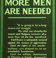Slide of a recruitment poster 'Why more men are needed'