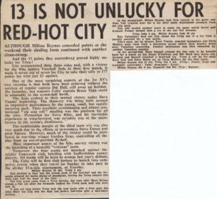 '13 is Not Unlucky for Red-Hot City'
