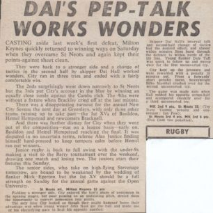 'Dai's Pep-Talk Works Wonders'