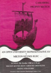 Milton Keynes RUFC 1980-81: press cuttings and memorabilia