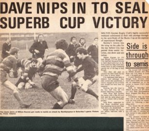 'Dave Nips in to seal Superb Cup Victory '
