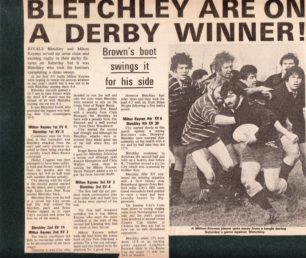 'Bletchley are on a Derby Winner'