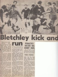 'Bletchley Kick and Run'.