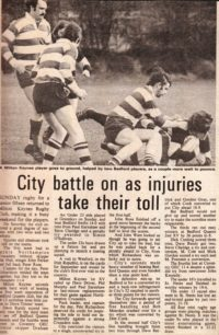 'City Battle on as Injuries Take Their Toll'