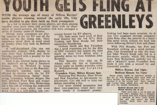 'Youth gets Fling at Greenleys';