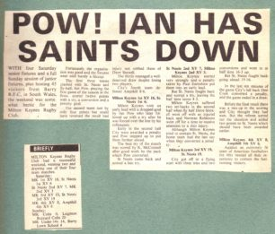 'Pow! Ian has Saints down'