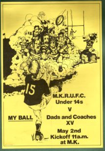 Milton Keynes RUFC 1981-1982: press cuttings and memorabilia