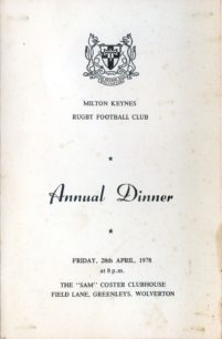 Milton Keynes RUFC 1977-78: press cuttings and memorabilia