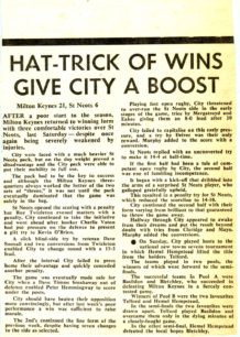 'Hat- Trick of Wins Give City  A Boost'