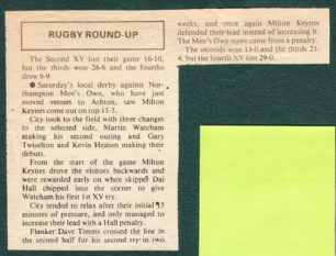 Rugby Round Up: The 2nd XV lost their game 16-10 ...';