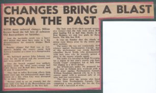 'Changes Bring A Blast From The Past'; 'Felled at Bosworth';