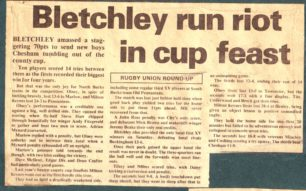 'Bletchley Run riot in cup feast'