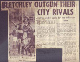 'Bletchley outgun their City Rivals'.