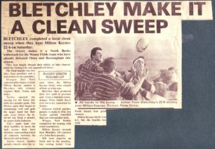'Bletchley make it a Clean Sweep'.