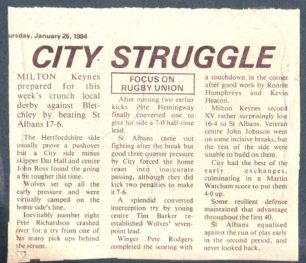 ' City struggle';  Rivals watch the weather'