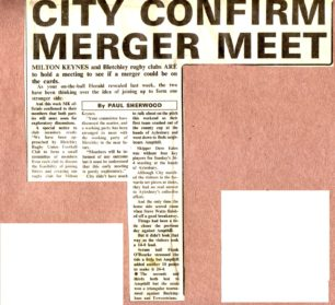 'City confirm merger meet';  'City are well beaten'