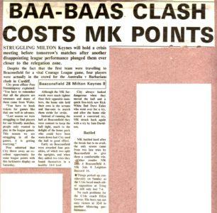 'Baa-Baas clash costs MK points'