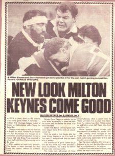 Milton Keynes RUFC 1983-84 season and 1988-89 season: press cuttings and memorabilia