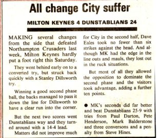 'All change City suffer'