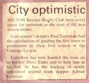 ''City optimistic' ; 'MK set for the big kick off'