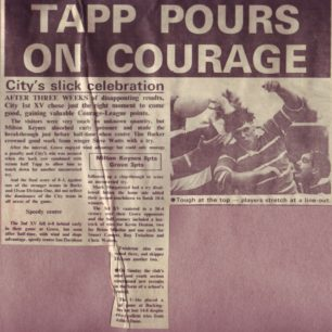 ' Tapp pours on courage'