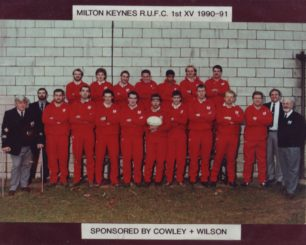 Team photo Milton Keynes R.U.F.C. 1st XV 1990-91