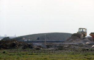A construction site with bulldozer