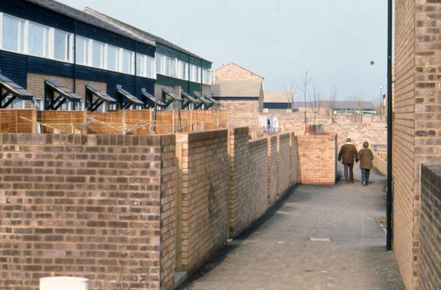 Back view of terraced houses in Eaglestone