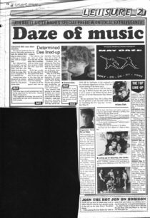 May Daze music event 25-27 May 1991 [newspaper article]