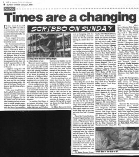 Times are a changing [newspaper article]