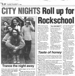 Roll Up For Rockschool [newspaper cutting]