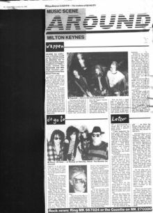 Review of the New Breed Three gig, upcoming gigs [newspaper cutting]