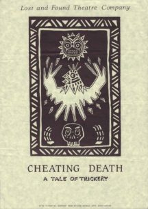 Cheating Death [poster for play]