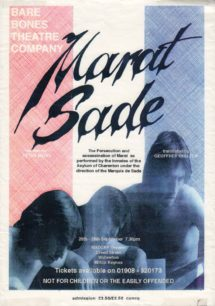 Marat Sade [poster for play]