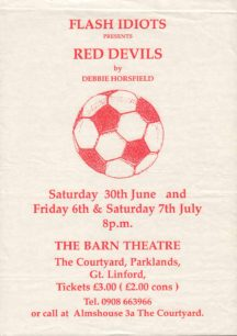 Red Devils [poster for play]