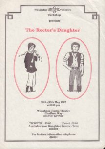 The Rector's Daughter [poster for play]