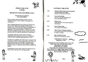 A selection of inner pages of the 1998 GLF programme