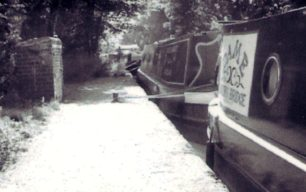 Barges by the Grand Union Canal 2002