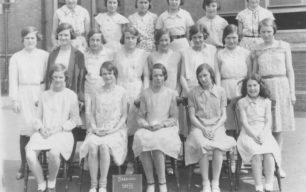 Bradwell School Std VII group of girls.
