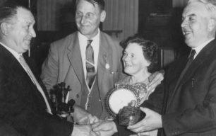 Bradwell Silver Band - their President Dr Marjorie Fildes makes a presentation.