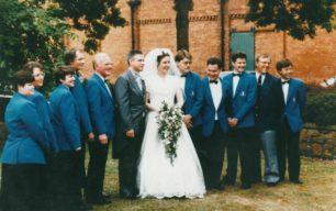 Bradwell Silver Band at Gwyndon & Sharon Reeve's Wedding.