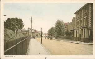 Bletchley Road and Bletchley Park Hotel