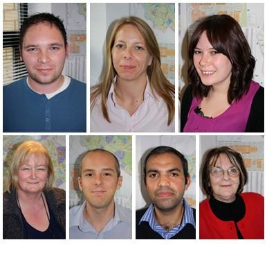 Terry Holman, Leanne Keltie, Helen Flett, Julia Cousins, Peter Chambers, Dinesh Sharman and Elaine Jackson
